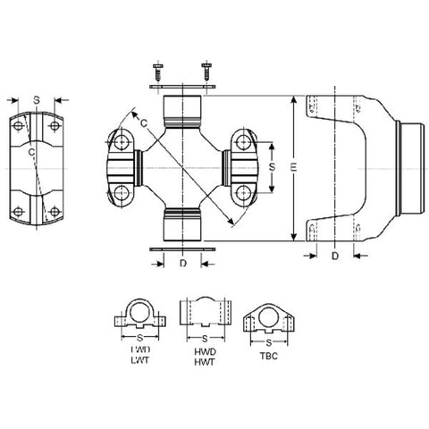 SVL 15-324X | (Mechanics 9C/1810) Universal Joint, Greaseable