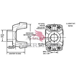 17N-4-7691-1 Meritor 17N Series End/Pinion Yoke | Easy Service