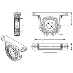 2103684X Spicer Center Bearing