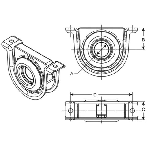 210969-1X Spicer Center Bearing