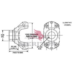 25WYS38-9A1 Meritor 25R Series End/Pinion Yoke | Rpl