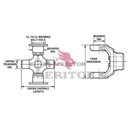 GCP115X Meritor 5N Series U-Joint Kit | Bearing Plate
