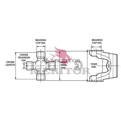 GCP129X Meritor U-Joint Kit | Outside Snap Ring