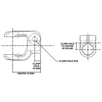 L6NYS16-12 Meritor L6N Series Clamp Yoke | Standard Serrated