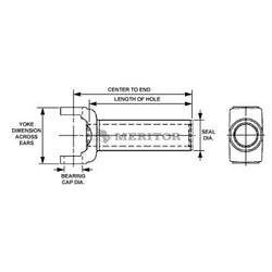 R3R-3-9161X Meritor 3R Series Slip Yoke | Inside Snap Ring