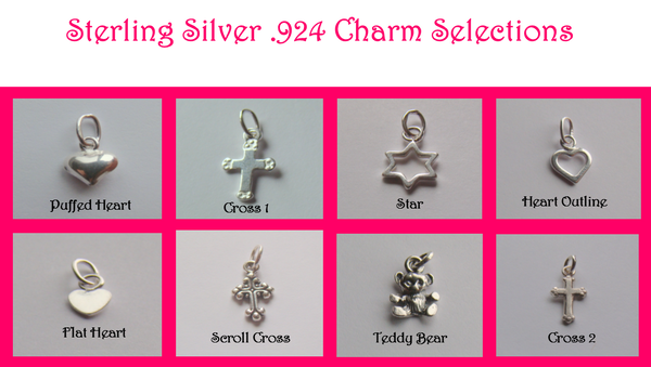 Genuine Sterling Silver .925 Charms 7mm to 12mm Add to Any Bracelet