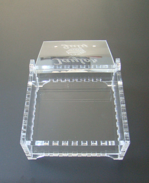 Elegant Clear Glass Like Birthstone Gemstone Custom Name Jewelry Box