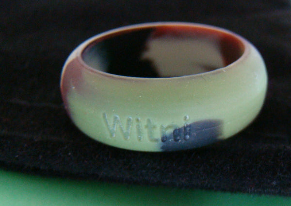 Arial Font Silicone Custom Personalized Name Ring Band