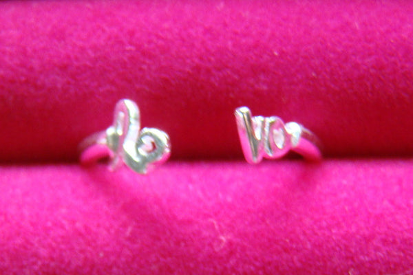 Love Ladies Ring Adjustable Sterling Silver