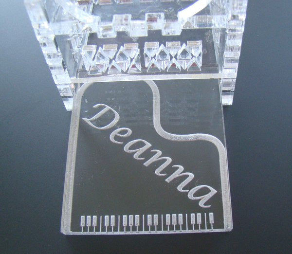 Personalized Piano Jewelry Keepsake Acrylic Clear Box
