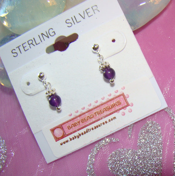 All Sterling Silver Natural Precious and Semi-precious Gemstone Birthstone Earrings