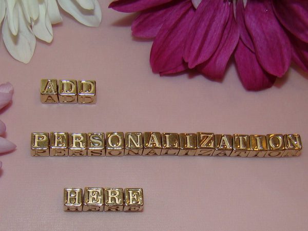 14K Gold Vermeil Individual Name Letters