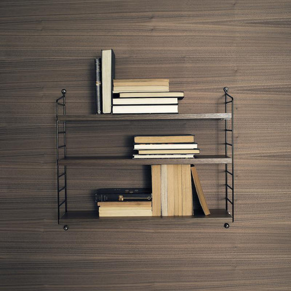 Etagere string pocket noyer/noir