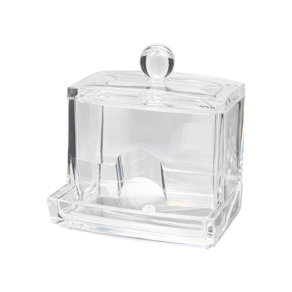 Distributeur de coton tige rectangle transparent - Shoji