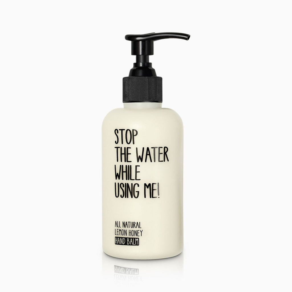 stop the water while using me - hand balm lemon