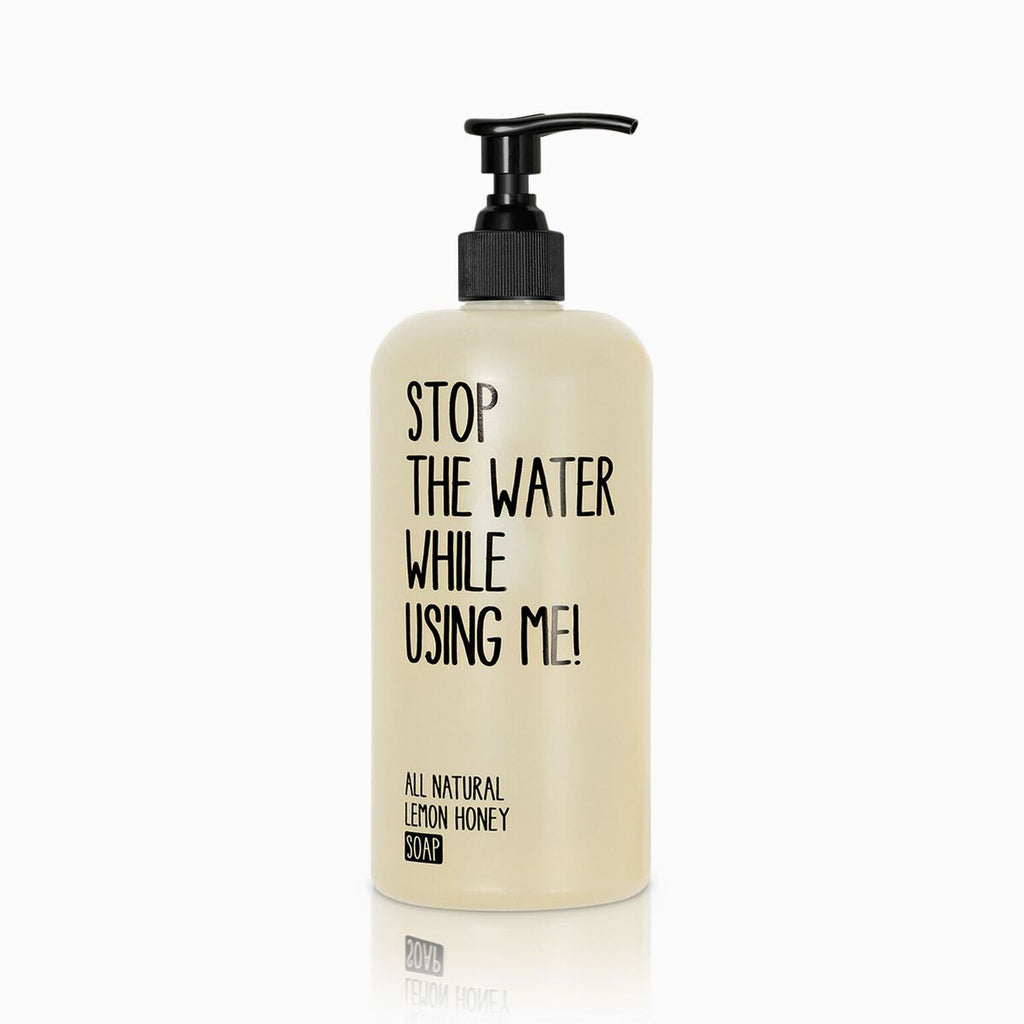 stop the water while using me -  lemon soap