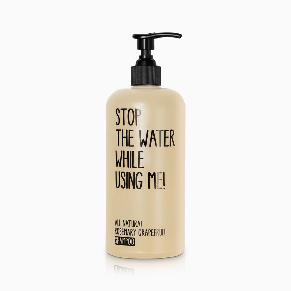 stop the water while using me-rosemary shampoo