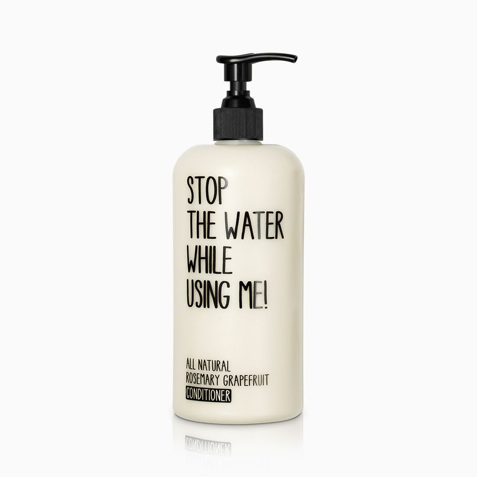 stop the water while using me-rosemary conditioner