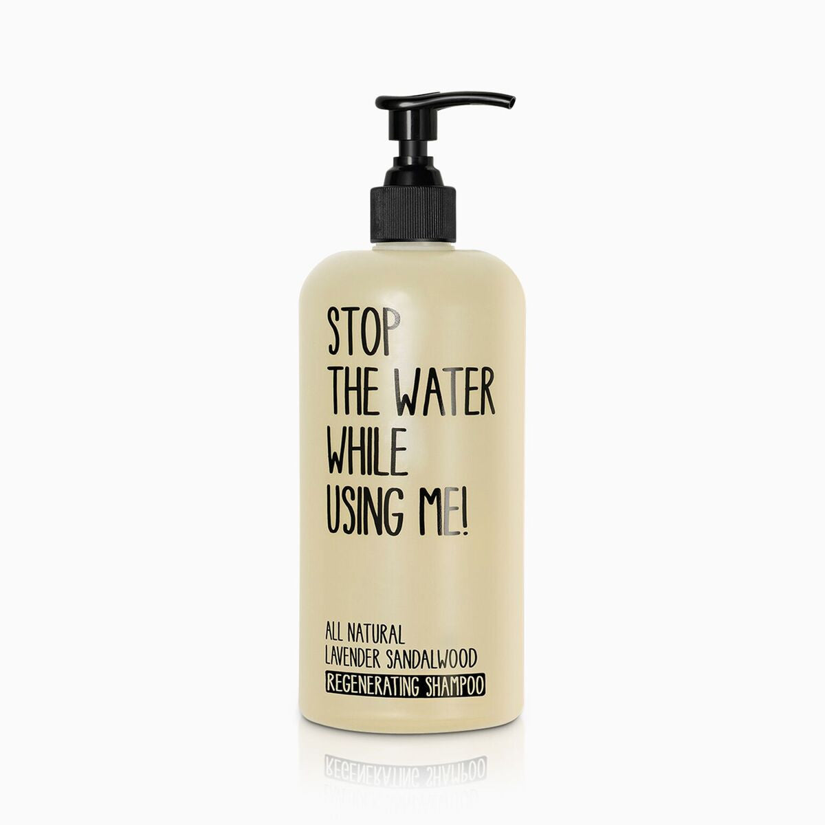 stop the water while using me - shampoo
