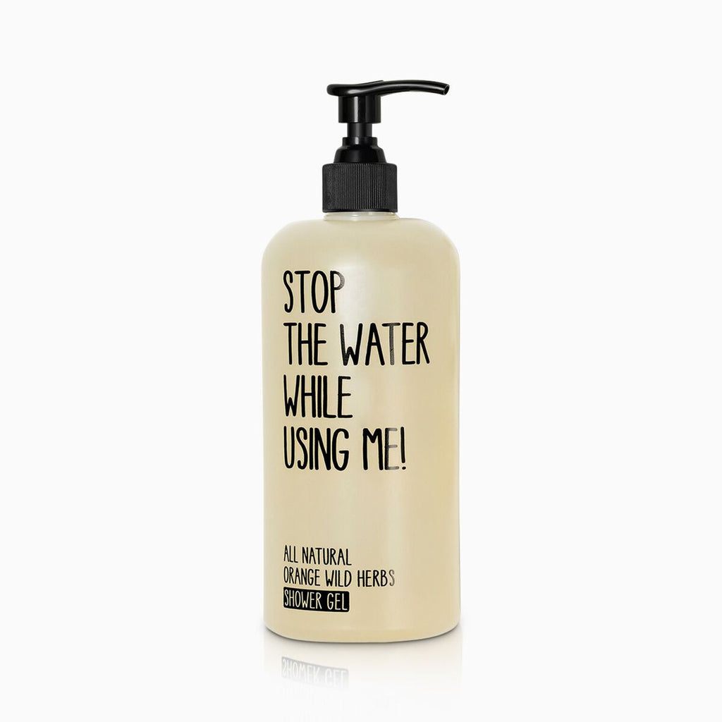 stop the water while using me - showergel