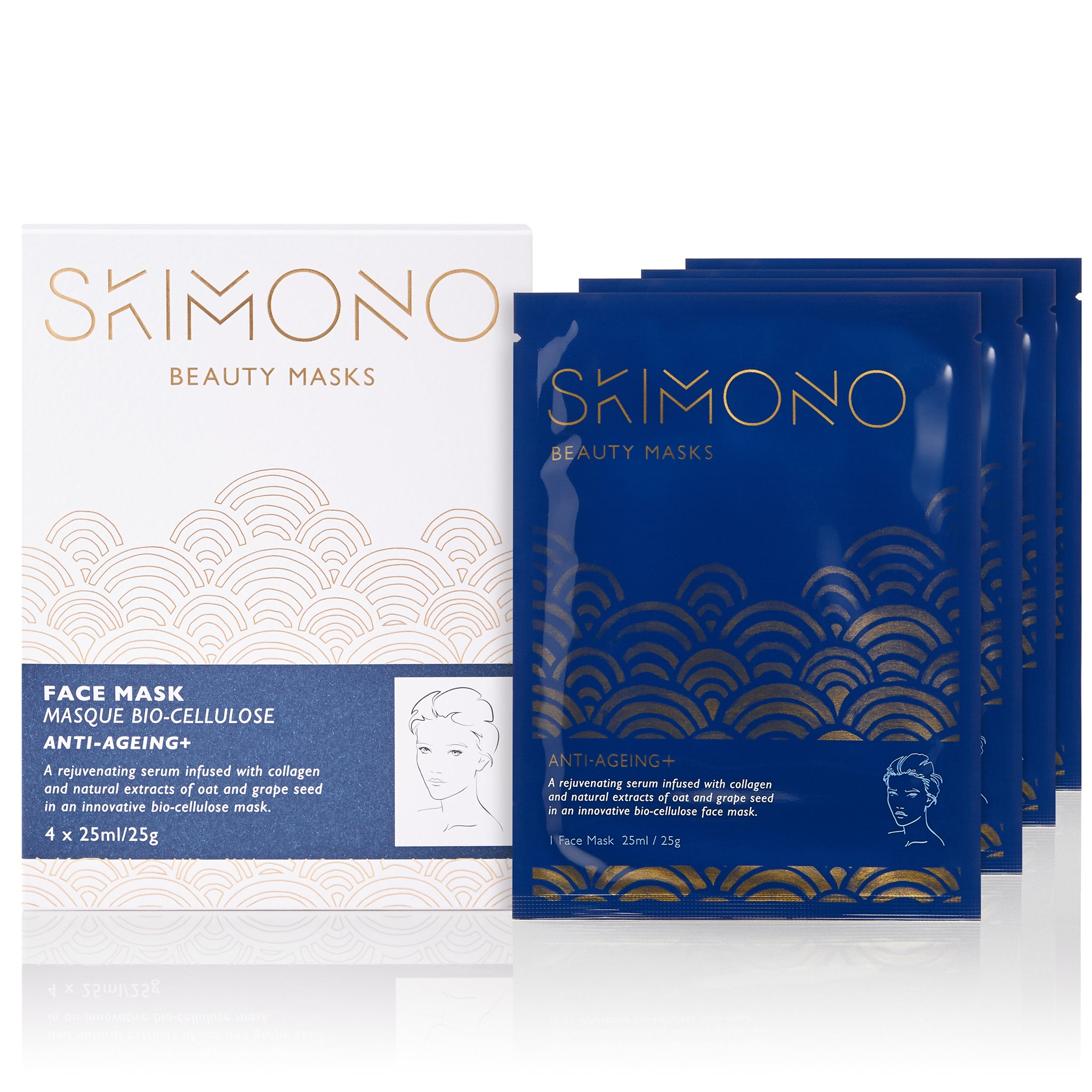 Anti-Ageing+ Bio-cellulose Face Mask Pack