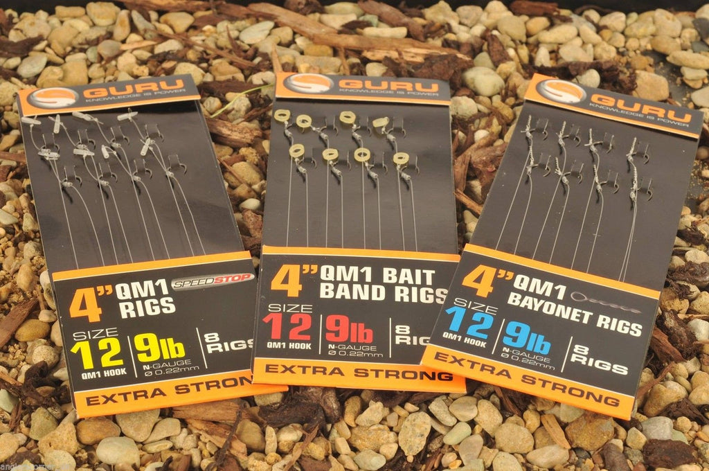 "Guru 4"" QM1 Speed Stop Rigs, Coarse Hooks, Guru, Bankside Tackle"