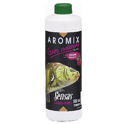 Sensas Liquid Aromix Carp Strawberry, Bait Additives, Sensas, Bankside Tackle