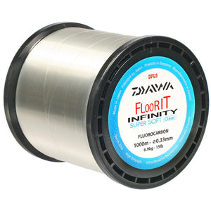 Daiwa Infinity FloorIt Super Soft Fluorocarbon 1000m Spool, Line & Braid, Daiwa, Bankside Tackle