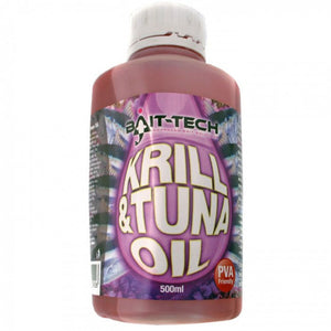 Bait Tech Krill & Tuna Oil, Bait Oils, Bait-Tech, Bankside Tackle