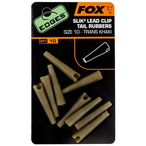 Fox Edges Slik Lead Clip Tail Rubbers, Rig Bits, Fox, Bankside Tackle