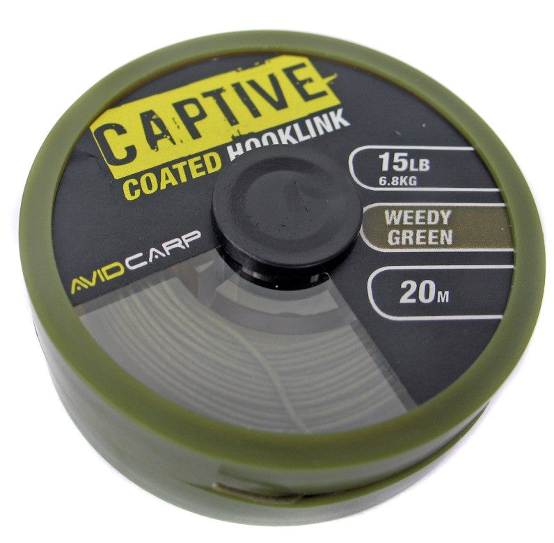 Avid Carp Captive Coated Hooklink 20m, Hooklinks, Avid Carp, Bankside Tackle