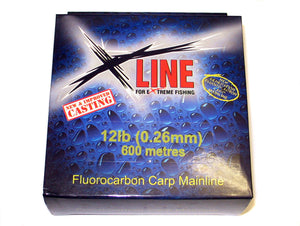 X-Line Fluorocarbon Mainline 250m Spool, Line & Braid, X-Line, Bankside Tackle