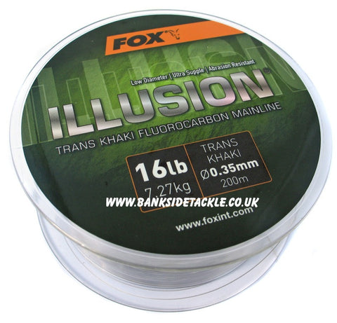 Fox Illusion Trans Khaki Fluorocarbon Mainline, Line & Braid, Fox, Bankside Tackle