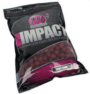 Mainline Baits Hi Impact Shelf Life Boilies Spicy Crab, Boilies, Mainline Baits, Bankside Tackle