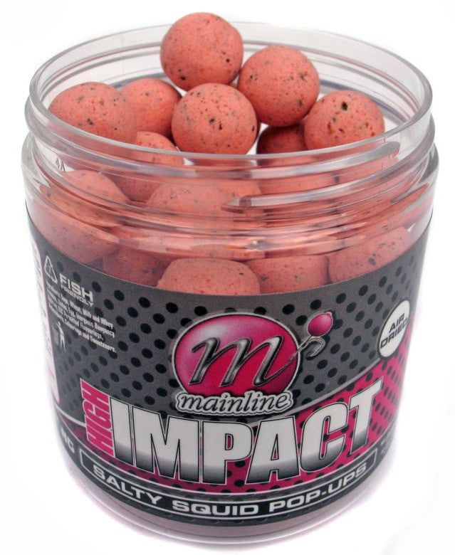 Mainline Baits Hi Impact Salty Squid Pop-Ups 15mm