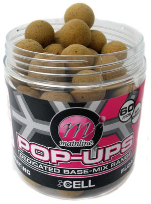 Mainline Baits Cell Pop-Ups, Hookbaits, Mainline Baits, Bankside Tackle