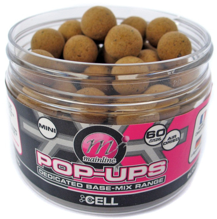 Mainline Baits Cell 12mm Mini Pop Ups, Hookbaits, Mainline Baits, Bankside Tackle