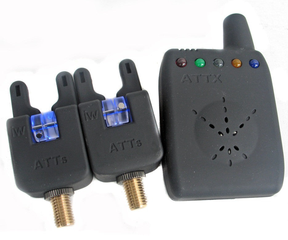 ATTs iW Underlit Bite Alarms & V2 ATTx Deluxe Receiver System - Set of 2, Bite Alarms, Gardner Tackle, Bankside Tackle