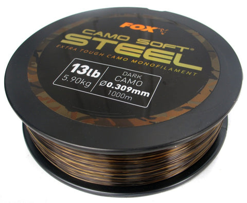 Fox Soft Steel Dark Camo, Line & Braid, Fox, Bankside Tackle