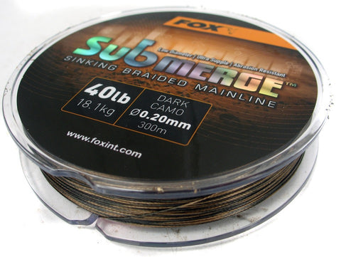 Fox Submerge Braided Mainline, Line & Braid, Fox, Bankside Tackle