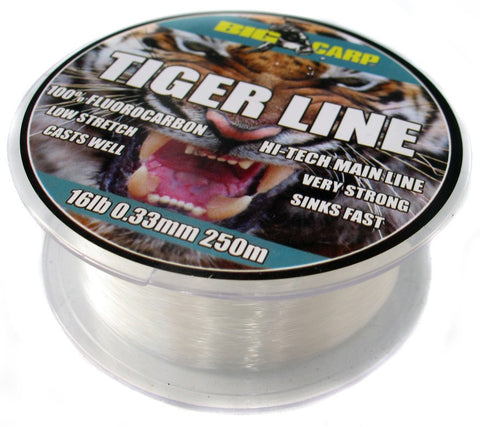 Big Carp Tiger Line 250m, Line & Braid, Big Carp, Bankside Tackle