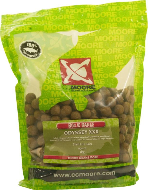 CC Moore Odyssey XXX 15mm Shelf-Life Boilies, Boilies, CC Moore, Bankside Tackle