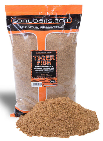 Sonu Baits Tiger Fish Groundbait 2kg Bag, Groundbaits, Sonu Baits, Bankside Tackle