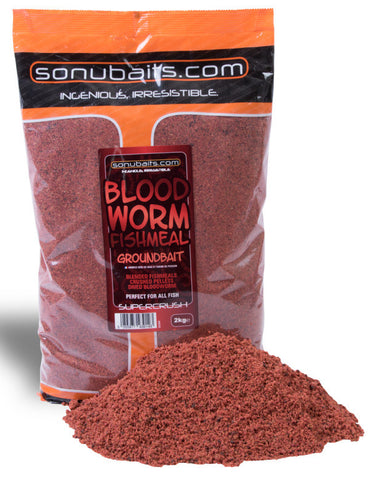 Sonu Baits Bloodworm Fishmeal Groundbait 2kg Bag, Groundbaits, Sonu Baits, Bankside Tackle