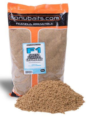 Sonubaits F1 Sweet Fishmeal Groundbait 2kg Bag, Groundbaits, Sonu Baits, Bankside Tackle
