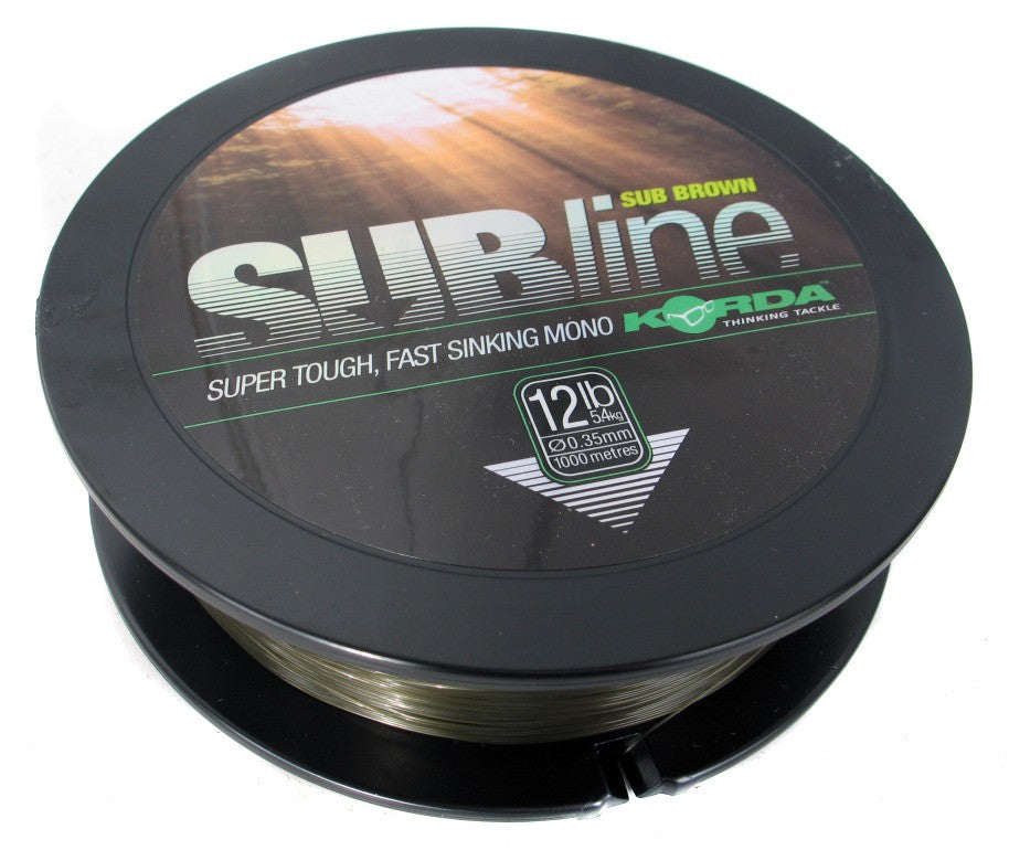 Korda Subline Brown 1000m, Line & Braid, Korda, Bankside Tackle