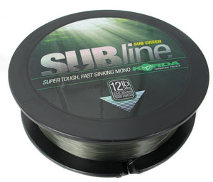 Korda Subline Green 1000m, Line & Braid, Korda, Bankside Tackle