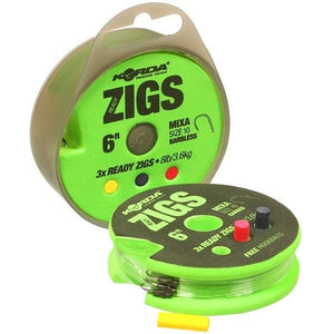 Korda Ready Zigs Barbless, Zigs & Floaters, Korda, Bankside Tackle