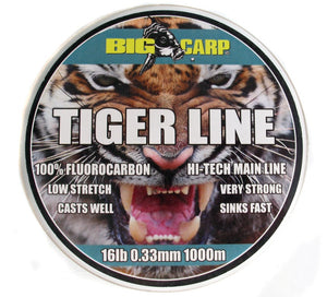 Big Carp Tiger Line 1000m, Line & Braid, Big Carp, Bankside Tackle