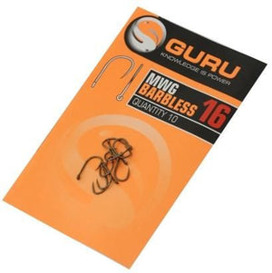 Guru MWG Barbless Hooks, Coarse Hooks, Guru, Bankside Tackle